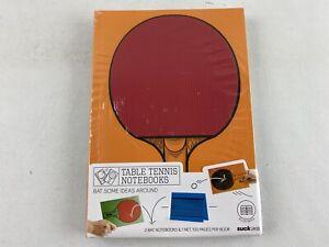 Table Tennis Ping Pong Notebooks - 2 Bat Notebook, 1 Net, 100 Pgs Per Book