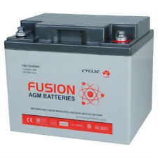 12V 50AH Fusion AGM Deep Cycle AGM Golf Buggy, Mobility Scooter Battery