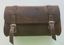 Genuine Leather Brown Motorcycle Tool Bag - American Made - Eagle