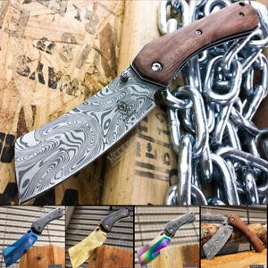 "8"" Tactical CLEAVER Pocket Knife Razor Assisted Open Folding Blade"