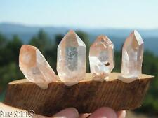 Tangerose Quartz Crystals x4 Terminated Points Raw Rare Mineral 23.6g 24-29mm