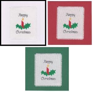 Christmas Cross Stitch Card Kit - Candle