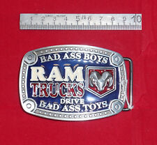 Fibbia belt buckle in metallo Dodge Ram Trucks bad ass toys smaltata