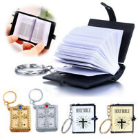 Christian English Key Chain Rings Jesus Cross Mini HOLY BIBLE Simulation Gifts