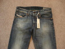 DIESEL  $188 MENS WAYKEE REGULAR-STRAIGHT JEANS  SIZE-27W-30L  NWT 100%COTTON