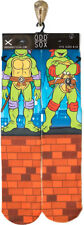 Odd Sox Crew Socks Teenage Mutant Ninja Turtles Mens Shoe Size 6-13 Fun Gift S12