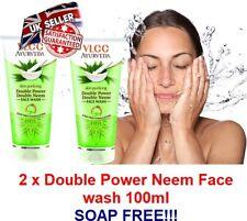 2 X VLCC Herbal anti bacterial NEEM facewash Acne Clear Oily skin Soap Free wash