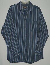 Men's Beverly Hills Polo Club LS Button Shirt-L/Large-Cotton & Polyester-Striped