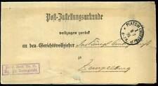 402498) DR Postzustellungsurkunde aus Flatow (Westpr)