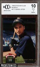 1993 Stadium Club Murphy #117 Derek Jeter RC Rookie BCCG 10 HOF Yankees