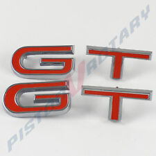 GT Guard or Boot Badge Letter Sets x2 , Chrome NEW for XW XY Ford Falcon Fender