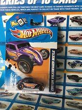 Hot Wheels Card 2012 HW Racing #176 CUSTOM VOLKSWAGEN BEETLE - Purple