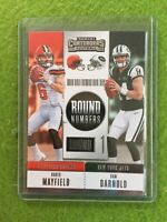 BAKER MAYFIELD ROOKIE CARD SAM DARNOLD RC 2018 Panini Contenders Football RNA-MD