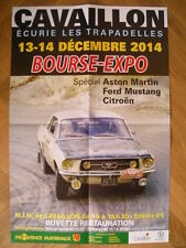 AFFICHE  RALLYE MONTE CARLO 1967 JOHNNY HALLYDAY FORD MUSTANG