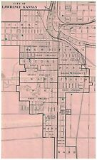 Vintage Precinct map of Lawrence Kansas 11 x 15 1/2 inches