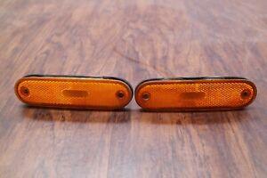 90-05 MAZDA MX-5 MIATA OEM FRONT BUMPER AMBER REFLECTOR SIDE MARKER LIGHTS