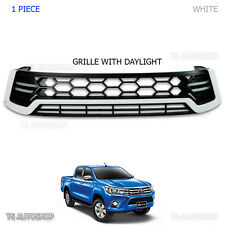 Fit Toyota Hilux Revo Sr5 2016 2017 White DRL DayLight Front Grille Grill
