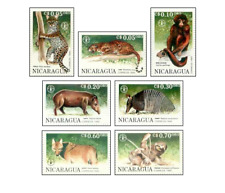 NIC9007 Wild animals, leopards, wolves and other 7 stamps MNH NICARAGUA