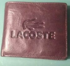 Lacoste Men's Wallet. Rare. Embossed with LACOSTE. New, in cloth envelope in box