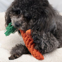 1x New Braided Cotton Rope Carrot Dog Teeth Cleaning Bite Chew Toy For Pet Hot