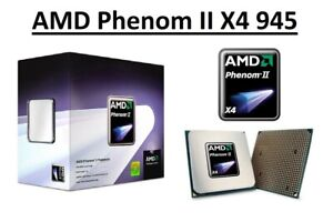AMD Phenom II X4 945 Quad Core Processor 3.0 GHz, Socket AM2+/AM3, 95W CPU