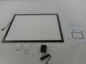 HSK A2 Light Box Pad Aluminium Frame, 5mm/0.2inches, Touch Dimmer, 20W 12V