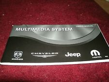 2008 JEEP DODGE VIPER CHALLENGER CHARGER CHRY MULTIMEDIA SYSTEM OWNERS MANUAL