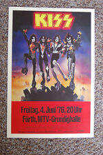 KISS Concert Tour Poster 1976 Germany