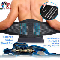 Lower Back Support Brace Lumbar Waist Belt Double Pull Belt Pain For Men Women S