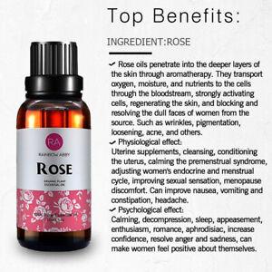 30ml (1oz) Essential Oil Pure Rose Jasmine Chamomile Lavender Vetiver Eucalyptus
