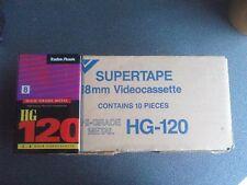 10 Videocassette 8mm 120sp