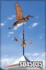 Whitehall Heron Weathervane Classic Large Polished Copper Ships Fast!