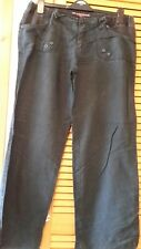 Lovely Ladies Maternity Black  Linen Trousers Size 12