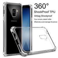 For Samsung Galaxy A7 A8 2018 S9 Plus Clear Shockproof 360° Slim TPU Covers Case