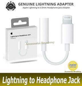 Genuine Apple 3.5mm Adaptor Lightning to 3.5mm Headphone Jack MMX62ZM/A - A1749