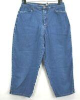 Vintage Bill Blass Jeans Stretch Cotton Denim Women's Size 10 Capri Pants Jeans