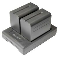 V-lock Battery Plate Adapter with Sony NP-F Series Batteries x2 NP-F750