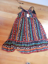 NWT Fire los Angeles Ruffle Spaghetti Strap Multi  Dress  Junior  Size Medium