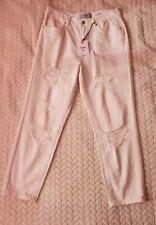 BNWT New Look Women's White Ripped Mom Ankle Grazer Jeans - Size UK10 Short/EU38