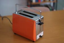 Vintage Mitsubishi Toaster Orange / Chrome, Mid Century, Made in Japan, Rare