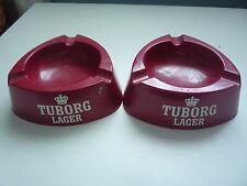 2 TUBORG LAGER ASH TRAYS