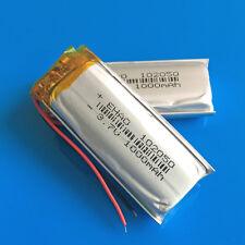 2 pcs 1000mAh 3.7V Li Po Battery for MP4 MP5 GPS Selfie Stick Speaker PSP 102050