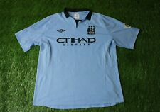 MANCHESTER CITY ENGLAND 2012/2013 FOOTBALL SHIRT JERSEY HOME UMBRO ORIGINAL