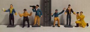 Original 1960s Corgi Toys 1504 Silverstone Press Officials figures FULL SET OF 6