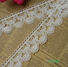 2 yards Wide 3.6CM Vintage off White Polyester Lace Trim Ribbon Sewing DIY Craft