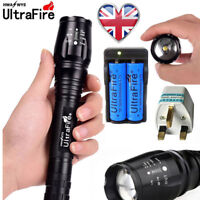 Ultrafire Zoom 90000LM 5 Mode T6 LED Flashlight Torch Lamp 18650 battery+Charger