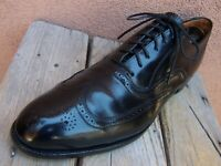 FLORSHEIM IMPERIAL Mens Dress Shoes Soft Black Leather Wingtip Oxford Sz Size 9D