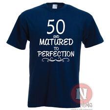 50 Celebración De Cumpleaños Regalo Camiseta Graciosa Matured To Perfección