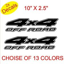 4x4 OFF ROAD Vinyl Stickers Decals Graphics x2  (Design 1)  13 colors to choose