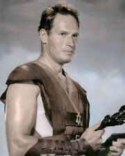 "CHARLTON HESTON BEN HUR 1959 MOVIE STAR ACTOR 8x10"" HAND COLOR TINTED PHOTOGRAPH"